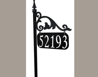 Annandale Reflective Address Sign Customized w/ Address on Both Sides