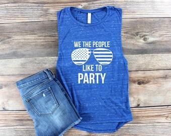 USA Shirt/ USA Tank Top/ 4th of July Tank Shirt/ Patriotic Shirt/ America Shirt/ Day Drinking Shirt/ Muscle Tank/ Muscle Shirt/ merica Shirt