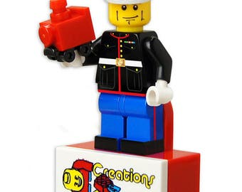 USMC Marine in Dress Blues custom printed minifigure * Creations for Charity