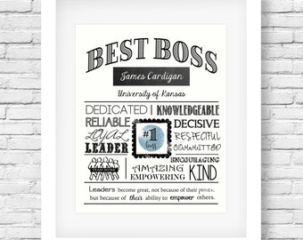 Best boss- Boss appreciation- Boss's day - Boss gift- Boss present - Boss printable