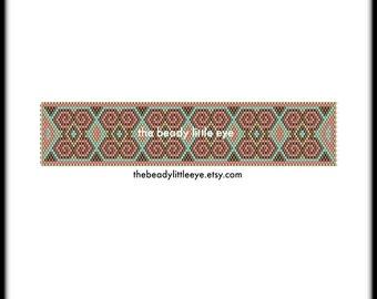Peyote Patterns - Beading Patterns - Peyote Pattern - Bracelet Tutorial - Beading Tutorial - Peyote Tutorial - Art Deco Pattern - CATALINA