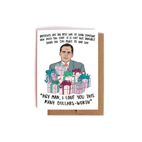 Michael Scott Birthday Card Funny Nerdy The Office Card