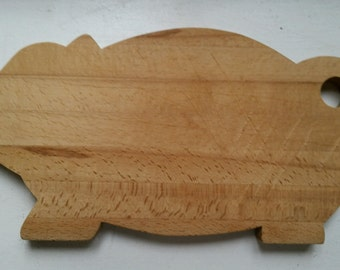 Vintage Wood Pig Cutting Board
