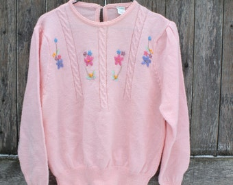Dainty Floral Pink Sweater