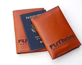 Company Gift Corporate Logo Leather Passort Wallet Cover Keeper,