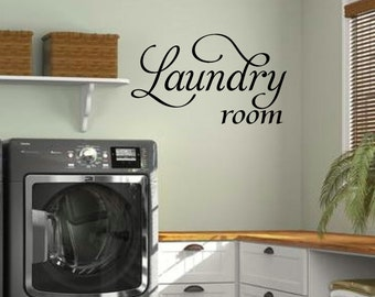 Laundry Wall Decal - Laundry room decor - Laundry Room Vinyl Wall Art - Laundry Vinyl Lettering - vinyl wall quotes