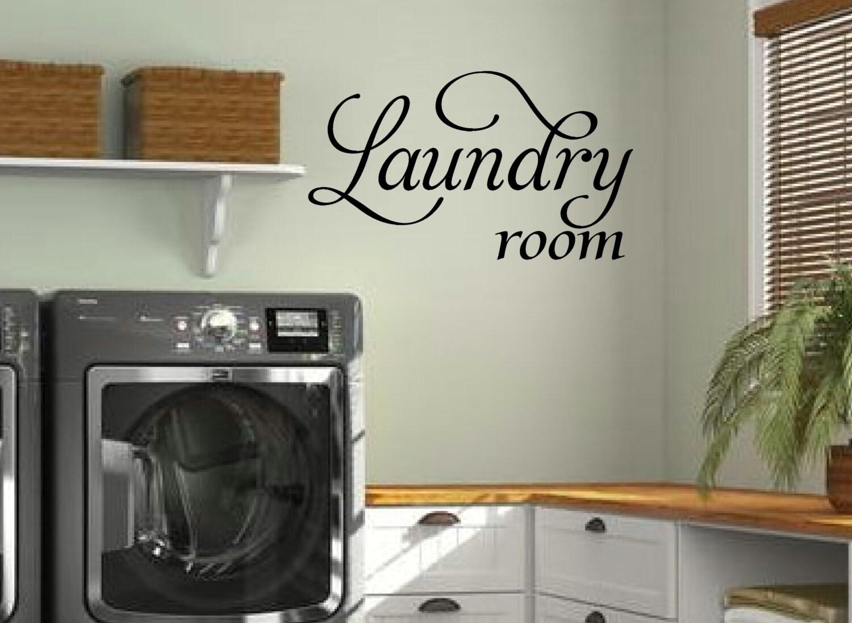 Laundry wall decal laundry room decor laundry room vinyl - Laundry room wall decor ...