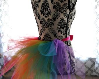 Rainbow Half Tutu - Adult Half Tutu - Bikini Veil - Rainbow Veil - Pride Tutu - Adult Tutu