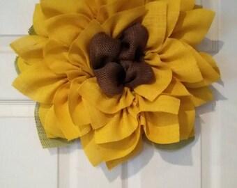 Sunflower Wreath // Front Door Wreath // Fall Wreath // Wedding Decor // Barn Wedding Decor // Ladies Gift // Fall Wedding