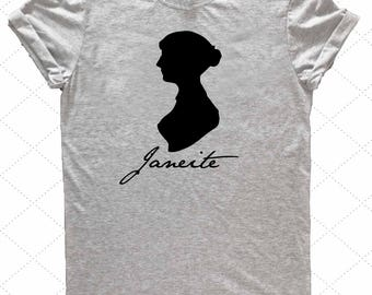 Janeite Shirt //  Love of all things Jane Austen // Austenite// Super Soft Tee // Bookish //