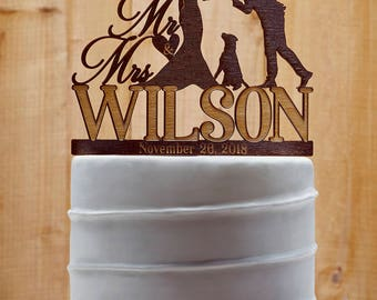 Customized Wedding Cake Topper With Dog, Personalized Cake Topper for Wedding, Custom Personalized Wedding Cake Topper, Couple Cake Topper17
