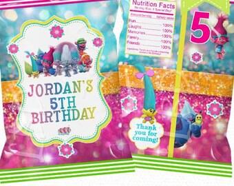 "Custom Treat Bag Printable, Candy Bag, Chip Bag, Party Bags   Baby Shower    Birthday   4.5"" x 7""- YOU PRINT"
