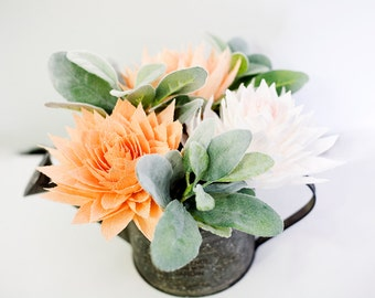 Paper Dahlia Bouquet, Paper Flowers, Crepe Paper Flowers, Wedding Paper Flowers, Home Decor, Mothers Day Gifts, Gifts For Her, Floral