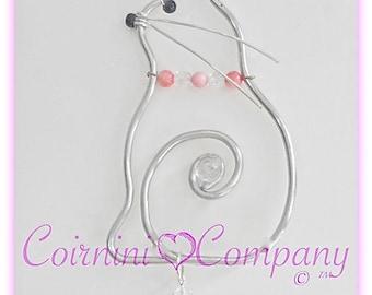Cats Sun-Catcher, Kittens, Pet, I Create Suncatchers of Your Pets, Teacher gifts, Wedding gifts, Birthday Gifts, Wire Cats, Window Art
