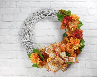 Fall Wreath, Autumn Wreath, Front Door Wreath, Wreath, Door Wreath, Harvest Wreath, Fall Pumpkin Wreath, Pumpkin Wreath, Autumn Wreath