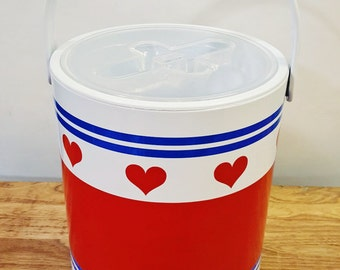 Vintage / Ice bucket for hearts / Valentine's Day