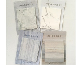 Set of 4 Marble Stone sticky notes