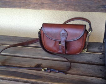 Brown Leather bag, Crossbody Bag, Timberland Bag, Brown Shoulder Bag, Small Messenger Bag, Leather Timberland Bag, Brown Leather Purse