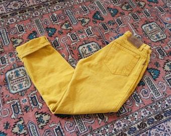 80s turmeric Calvin Klein jeans   30 x 31