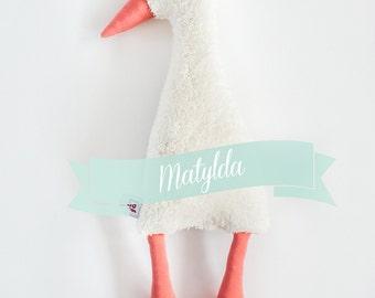 Matilda the Goose, ecru softie, plushie