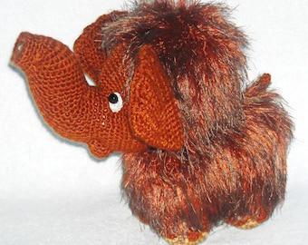 amigurumi mammoth crochet mammoth stuffed animal mammoth crochet toy gift  baby shower gift