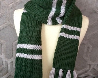 Slytherin scarf, Philidelphia Eagles scarf, Hogwarts scarf, Harry Potter scarf