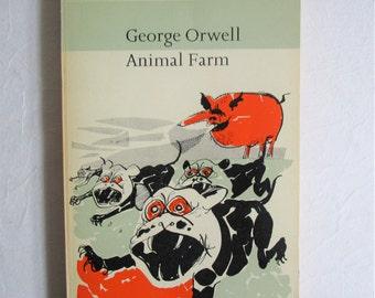 Vintage 1950s Paperback Book Animal Farm George Orwell 1965 Reprint Paul Hogarth Cover Fiction Book