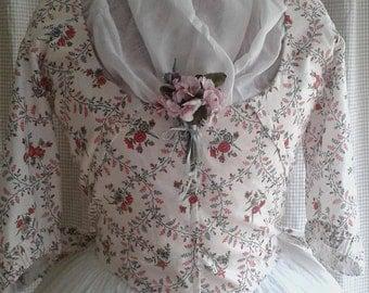 Beautiful 1780 - 90 Replica Pierrot Jacket, handsewn