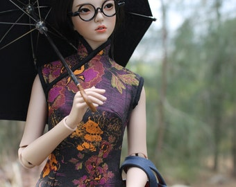 Qipao/Cheongsam for Raccoon Doll (sl/sm) slim MSD bjd