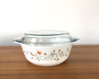 Pyrex Emily Casserole with Lid, English Pyrex Emily Bowl with Lid, Large Pyrex Emily Casserole with Lid