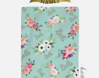 Baby blanket personalised - Baby shower gift - Swaddle blanket - Newborn swaddle - Monogram baby - Newborn baby gift - Custom blanket