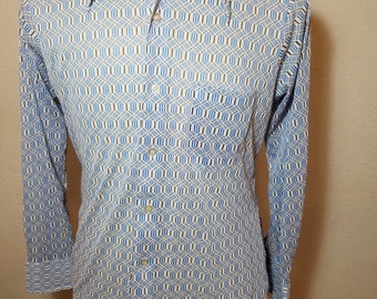 FREE  SHIPPING  1970Abstract Nylon Knit Men Shirt
