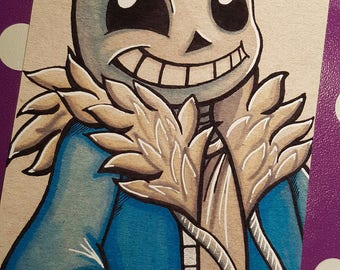 Sans inspired art card print (Size 7x5 inches)