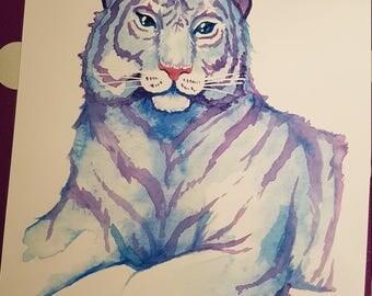 Space tiger print