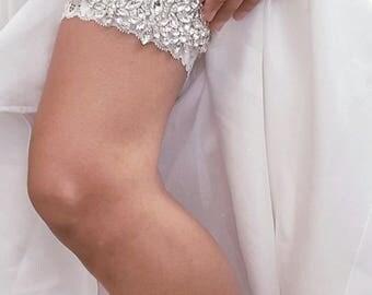 Wedding Garter, Bridal Garter, Crystal Wedding Garter, Lace Bridal Garter, Wedding Garter Set, Garter, Gift for Bride