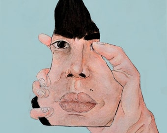 Piece Of Me- portrait art print