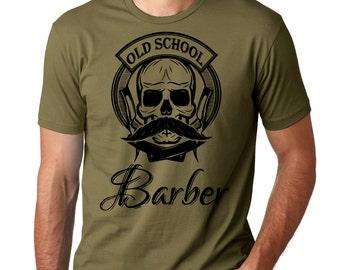Barber T-Shirt Old School Barber Hipster Barbershop T-Shirt