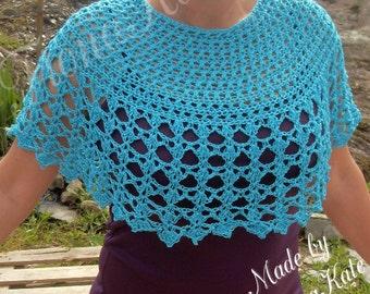 Gorgeous bamboo cashmere cotton mix crochet poncho