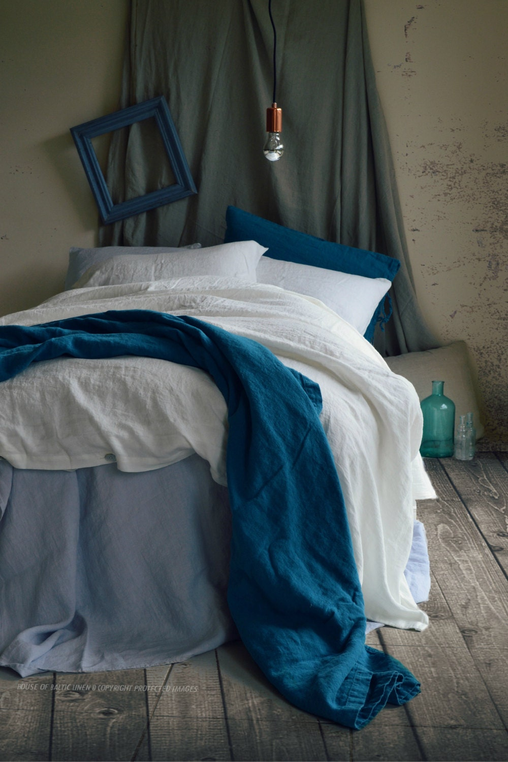 Pure White Linen Duvet Cover By House Of Baltic Linen