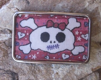 belt buckle skull & cross bone belt buckle Pink belt buckle women's  jewelry girls rule silver resin Belt buckle women's belt buckle