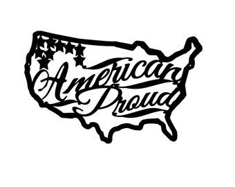American Proud Metal Sign, Patriotic Metal Sign, American Flag Metal Sign,American Proud House sign,Patriotic Plaque, American Sign,USA Sign