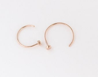 Rose Gold Nose Hoop, Rose Gold Nose Ring, Rose Gold Piercings, Nose Jewelry, Body Kandie, Nose Piercing, Nose Rings, Nose Hoops, 22g 20g 18g