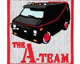 Cool Vintage Style A-Team Iron On Patch 8cm TV