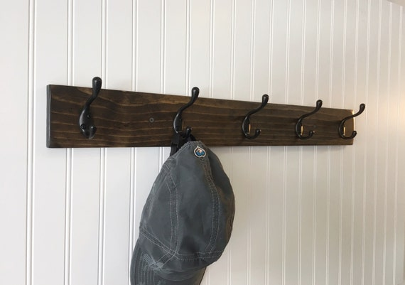wall coat rack rustic coat rack coat hook rack entryway coat hook - Coat Hooks With Storage