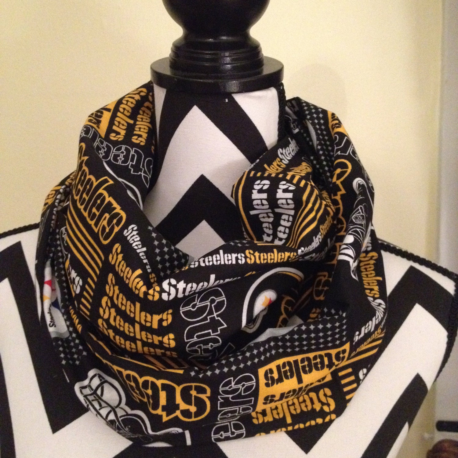 nfl pittsburgh steelers infinity scarf by gamedaybella on etsy