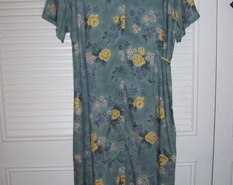 "Prairie Dress 14, ""Sweet Caroline"" Dress ,  Long Maxi Floral Tie in Back Sought-After Rayon Floral Dress see details"