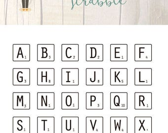 Clear Scrapbooking Stamp SCRABBLE