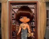 OOAK Handmade Blythe denim pencil skirt.