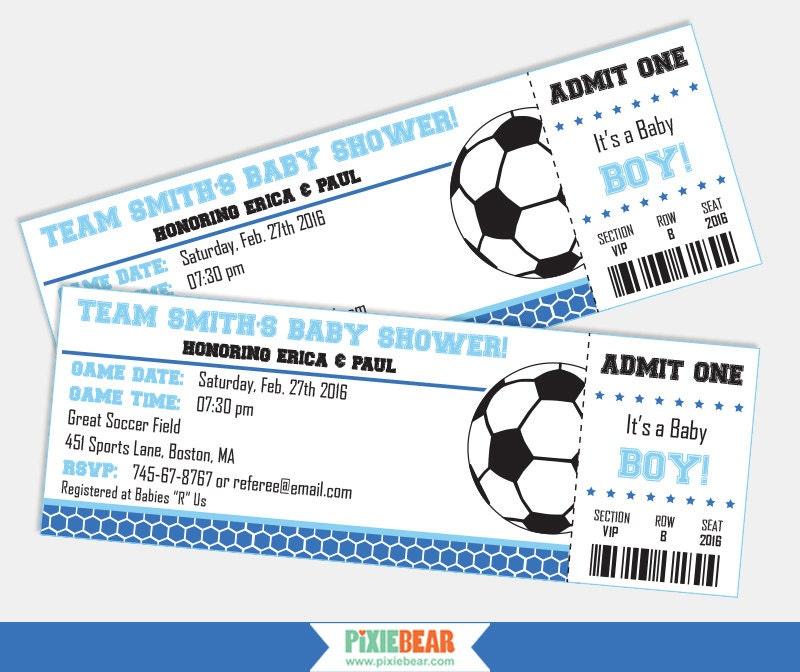 Soccer Baby Shower Invitation Soccer Baby Shower Soccer