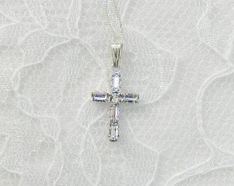 Etsy your place to buy and sell all things handmade swarovski crystal crossswarovski crosschilds crosscommunion crossconfirmation cross aloadofball Choice Image